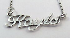 "Sterling Silver Box Chain with Name - ""KAYLA"" - 3169"