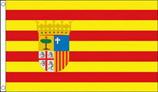 ARAGON FLAG 5' x 3' Aragonese Regional Spain Region Spanish Flags