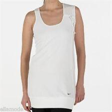 Maglie e top da donna bianchi per palestra , fitness , corsa e yoga s