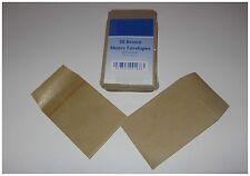 50 PICCOLA MARRONE BUSTE Regali DENARO 100mm x 65 mm mensa scolastica/ECONOMICO