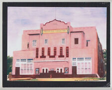 "CLASSIC HALEIWA THEATRE 1981 GICLEE FROM HAND COLOR B&W PHOTOGRAPH ON 8X10"" MAT"