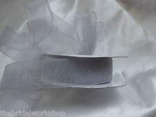 Wedding / Prom Wrist Corsage AB Crystals With Organza Bow Bride Bridesmaid