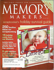 Memory Makers December 2004 Holiday Cards/Holiday Photo Tips/Gift Albums