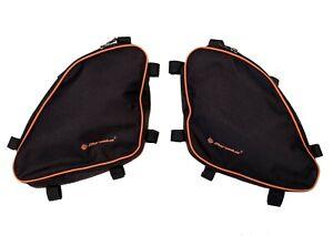 KTM 950/990 Adventure Crash bar bags luggage storage panniers with orange edging