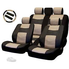 New Semi Custom Leatherette Car Seat Covers Split Seat Full Set BT For Toyota