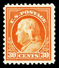 Scott 516 1917 30c Orange Red Franklin Perf 11 Issue Mint F-VF OG HR Cat $27.50