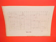 1965 VOLVO 122S HILLMAN MINX CONVERTIBLE COUPE SEDAN WAGON FRAME DIMENSION CHART