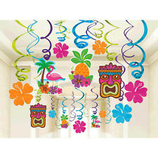 Hawaiian Luau Tiki Party Supplies TIKI SWIRL DECORATIONS Pack Of 30
