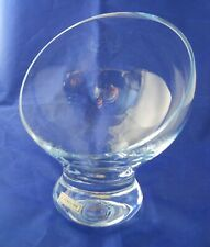Ichendorf Milano Crystal Glass Dessert Slanted Rim Mid Century