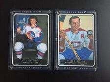 2008-09 UD Masterpieces Lot 5x7 XL FRANK MAHOVLICH & DALE HAWERCHUK Jumbo card