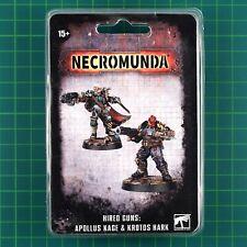 Hired Guns Apollus Kage & Krotus Hark Necromunda Underhive Forge World #12106
