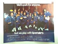 "Vintage 80's Spot Bilt Shoe Poster Ad ""Will work for Anyone"" OJ, Buckner, Brett+"