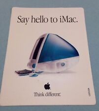 "Vintage Apple Computer ""Say Hello to iMac""/""Think different."" Sticker Bondi Blue"