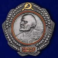 The Order MEDAL LENIN COMMUNISM RED ARMY MILITARY MEDALS BADGE PINS
