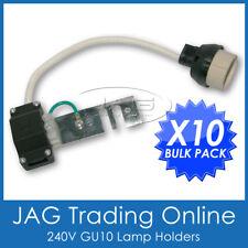 10 x 240V GU10 DOWNLIGHT LAMP HOLDER-Socket/Connector/Adaptor/Fixture Lampholder