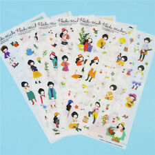 6 Pcs Forest Sweet Korean Girl Diary Cartoon Scrapbook Decor Pvc Stickers Pack