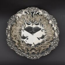 """1850s JE Caldwell & Co. 10"""" Sterling Silver Repousse Bowl - 298 grams"""