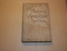 First principles of agriculture. By Edward V. Voorhees ..  (1st Ed) 1895