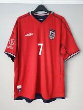 Original Umbro England Away Shirt 2002 BECKHAM #7 (L) World Cup