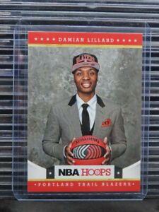 2012-13 Hoops Damian Lillard Rookie Card RC #280 Trail Blazers (B) F12