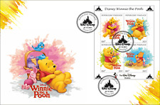 FDC Cartoons Disney Togo 2021 year 15 covers Donald Duck, Winnie the Pooh...