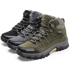 Winter Mens Fur Lining Hiking Snow Boots Outdoor Track Climbing Sport Shoes Size
