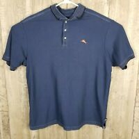 Tommy Bahama Men's Short Sleeve Polo Shirt Sz XL Blue Suprima Cotton Extra Large