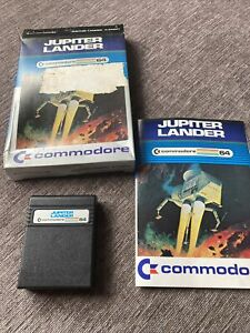 Commodore 64 Game - JUPITER LANDER - Cartridge, Manual And Box. Tested And Works