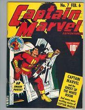 Flashback 35 reprinting Captain Marvel Adventures #7 (SHAZAM!) 1976 B&W Issue