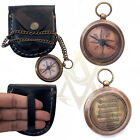 1.5inch Brass Sundial Chain Pocket Compass Nautical Maritime Vintage Sailor Gift