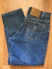VTG 80s ~ LEVI'S 580 DENIM JEAN ~ 30 x 30 ~ Medium Wash ~ Orange Tab ~ USA Made