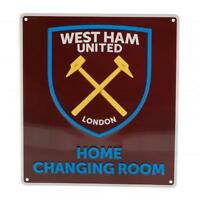 West Ham United FC Official Crested Metal Home Changing Room Sign