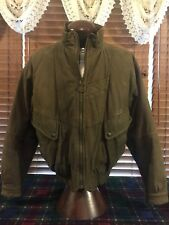 Mens EUC MEMBERS ONLY LEATHER Sz 40 Medium Brown Bomber Jacket