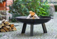 Korono Stahl Feuerschale mit 3 hohen Beinen Ø 60-80cm mit Zubehör, Hand Made