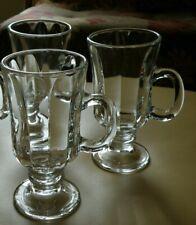Set of 3 Libbey MILAN Irish Coffee Cup Mug Set 8.25 oz Stem Glass Drinkware
