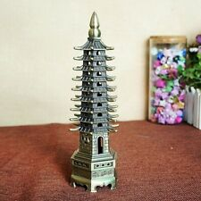 Feng Shui 3D Model China Wenchang Pagoda Tower Metal Crafts Statue Handmade 18cm