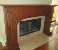 Wood Mantel Mahogany (Solid Wood) Hand Carved