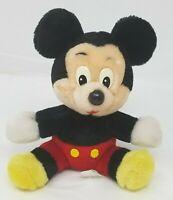 "Mickey Mouse Plush Disneyland Walt Disney World Parks Vintage 8"" Seated Stuffed"