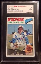 GARY CARTER 1977 TOPPS Autographed Signed Baseball Card SGC 295 EXPO METS HOF FG