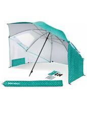 Sport Brella Beach Umbrella w/Sand Anchor Vented Outdoor Sun Tent Pop-Up Shade