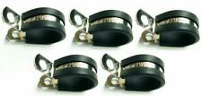 5x Marine Grade Stainless Steel Rubber-Lined P-Clip 21mm Hose Pipe Clamp M6 Hole