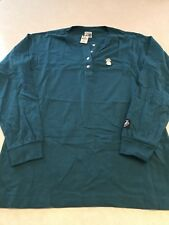 NWT Victoria's Secret PiNK Tee Shirt Henley Campus Button Teal Pineapple Small
