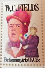 US Postage 15 Cents W.C. Fields Performing Arts USA 3 Stamps