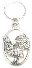 Rooster Cockerel Bird Handcrafted from Solid English Pewter In the UK Key Ring