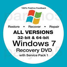 WINDOWS 7 ULTIMATE Recovery 64 Bit Install Reinstall Boot Restore DVD Disc Disk
