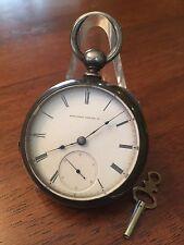 1871 ELGIN 13j Key Wind Fahys 3oz Coin Silver Pocket Watch 18s Wild West Runs