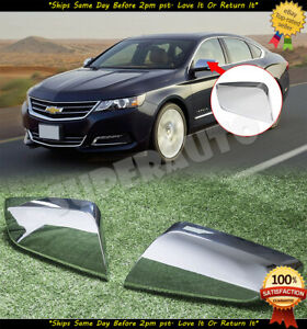 For 2014-2018 Chevrolet Impala 2pcs Clip On Replacement Chrome Mirror Cover Caps