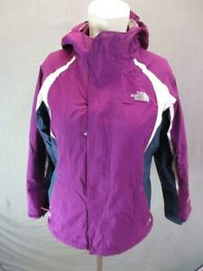 The North Face Size L(14-16)Girls Purple HyVent Fleece Hooded 3-in-1 Jacket T687