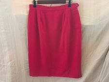 Austin Reed Red Worsted Wool Skirt Straight Size 14P