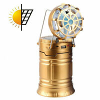 LED Solar Outdoor Camping Fishing Tent Lamp Portable Light Lantern Torch with Fa